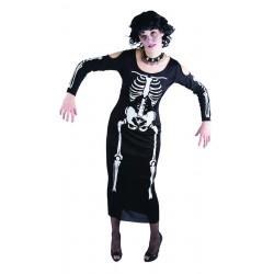 Déguisement de Squelette Noir Femme
