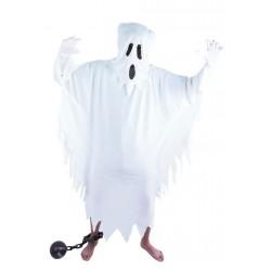 Déguisement Fantôme Blanc Adulte - Costume Fantôme Squelette The Duck