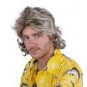 Perruque Châtain à mèches blondes Homme