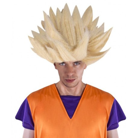 Déguisement Perruque Guerrier Dragon Blond SANGOKU - Déguisement San Goku Homme The Duck