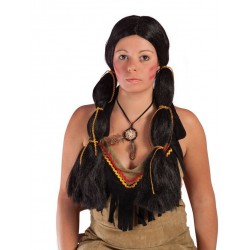Perruque d'Indienne Noir Femme