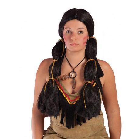 Déguisement Perruque Indienne Noir Femme - Déguisement indien Femme The Duck