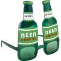 Lunettes Bouteilles de Bière Vertes Adulte
