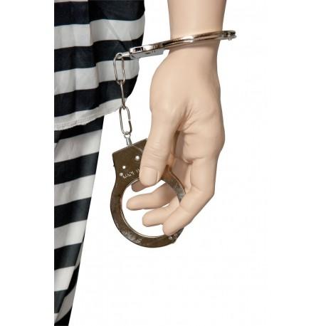Menottes Prisonnier Métal Déguisement Adulte - Costume Accessoire Prisonnier The Duck