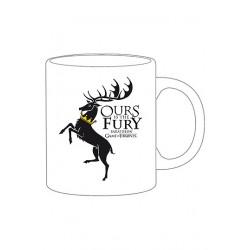 Objet Geek Mug Game of Thrones Blason Baratheon Noir - Cadeau Geek Mug The Duck