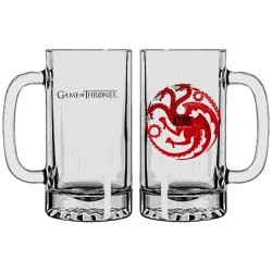 Objet Geek Chope de Bière Game of Thrones Blason Targaryen - Cadeau Geek Mug The Duck