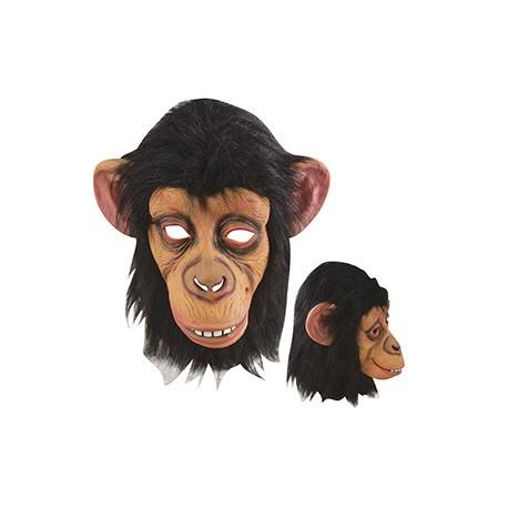 Masque de Singe Noir et Beige Adulte - Déguisement d'Animaux de la Jungle