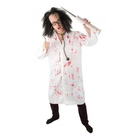 Déguisement Blouse de Médecin Ensanglantée - Costume de Docteur Adulte Halloween The Duck