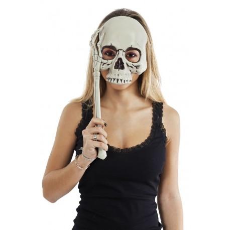 Loup Sceptre Tête de Mort Blanc Adulte - Masque de Squelette - Déguisement Halloween