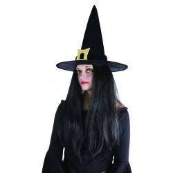 Chapeau de Sorcière Noir Femme - Déguisement de Sorcière Femme Halloween The Duck