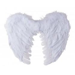 Ces petitesailes d'anges en plumesmesurent 40*32cm et sont disponibles en 3 coloris : Blanc, Noir et Rouge.