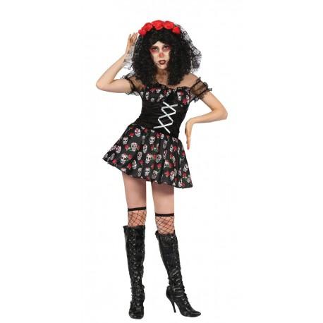 Déguisement de Squelette Dia de los Muertos Femme - Costume Squelette Halloween The Duck