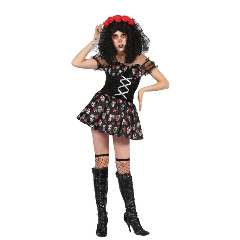 d guisement de squelette chica de los muertos femme costumes fant mes squelettes sur the. Black Bedroom Furniture Sets. Home Design Ideas
