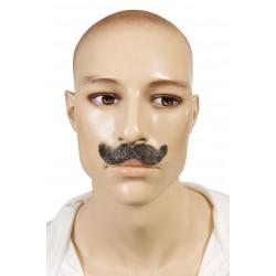 Moustache d'Inspecteur Gris - Costume Moustache - Déguisement Policier