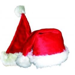 Bonnet de Père Noel effet Peluche Adulte