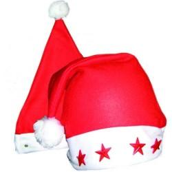 Bonnet de Mère Noël Etoiles Lumineuses Adulte