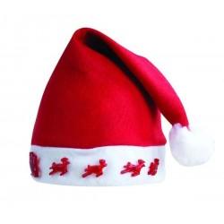Bonnet de Noël avec Rennes Lumineux Adulte - Déguisement Mère Noel Femme The Duck