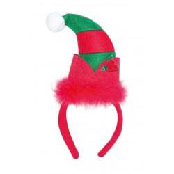 Serre-tête Bonnet de Lutin de Noël Adulte