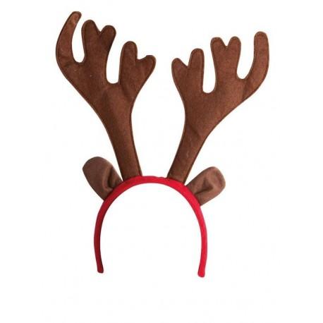 Serre-tête de Renne de Noël Adulte - Costume Renne Noël - Déguisement Noël The Duck