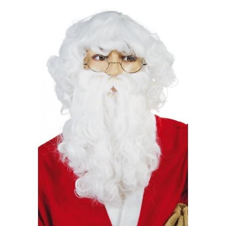 Barbe et Perruque de Père-Noël Blanche Adulte - Costume Père Noël - Déguisement Père Noël The Duck