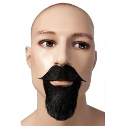Barbe et Moustache de Mousquetaire Noires - Déguisement mousquetaire moustache barbe The Duck