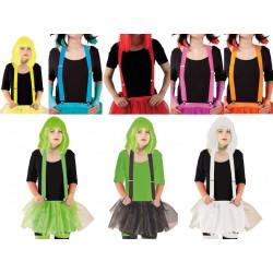 Bretelles Fluo Adulte - Costume Fluo - Déguisement fluo The Duck
