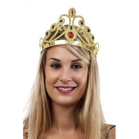 Couronne de Reine Dorée Femme - Costume reine - Déguisement reine The Duck