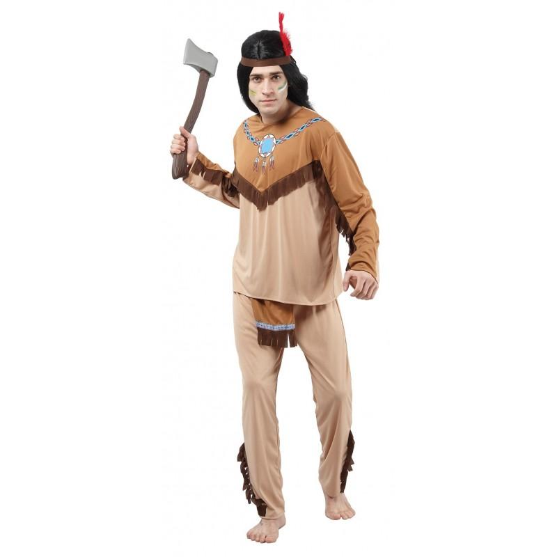 d guisement d 39 indien homme beige tomahawk costumes d 39 indiens sur the. Black Bedroom Furniture Sets. Home Design Ideas