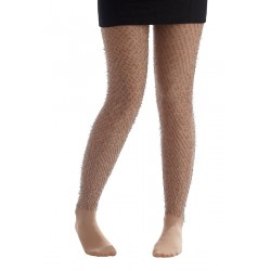 Collants avec poils couleur Chair Adulte