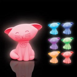 Veilleuse Chat Multicolore - Objet insolite Chat - Cadeau geek Chat The Duck