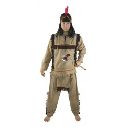 Déguisement D'indien Marron Homme - Costume Western Homme The Duck