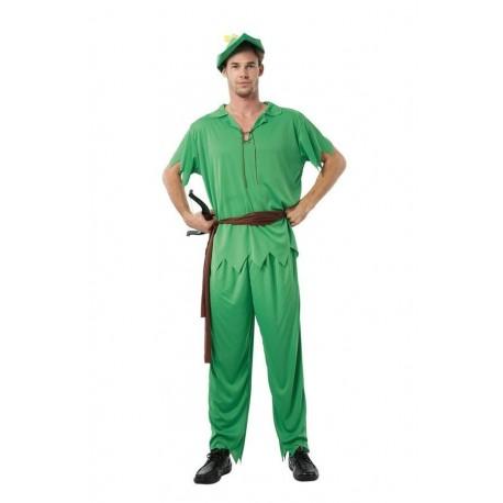 Déguisement de Peter vert Adulte - Costume peter pan homme dessin animé The Duck