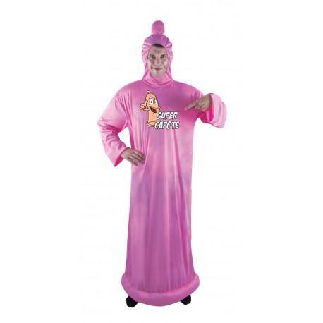 Déguisement de Super Capote Rose Adulte - Costume Humour sexy adulte The Duck