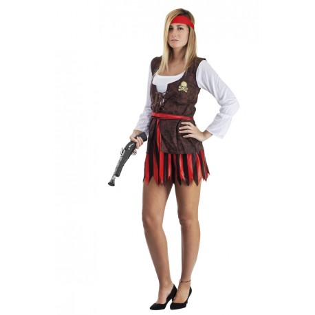 Déguisement Pirate Femme Sexy Rouge - Costume Pirate Femme The Duck