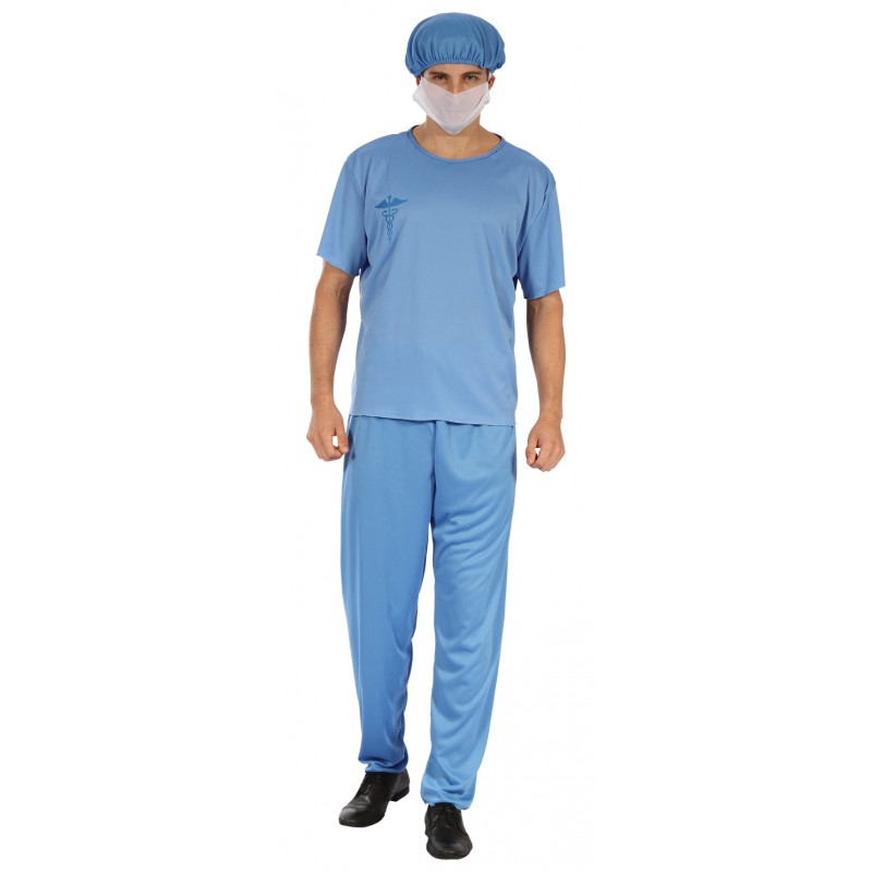 d guisement de chirurgien bleu adulte costumes de m decins sur the. Black Bedroom Furniture Sets. Home Design Ideas