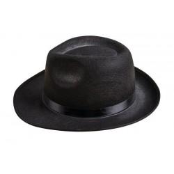 Chapeau Borsalino Noir Gangster Adulte - Costume Chapeau - Déguisement Gangster The Duck