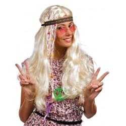 Perruque Hippie Blonde Femme - Déguisement hippie Femme The Duck