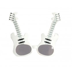 Lunettes Guitares Rock Blanc Adulte - Déguisement Rock Adulte - Costume Rock Adulte The Duck