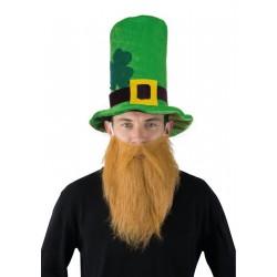 Chapeau Vert Barbe Rousse Saint patrick - Déguisement Saint Patrick Adulte The Duck