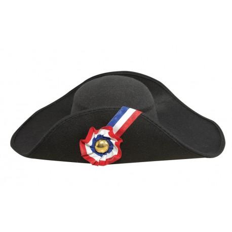 Chapeau de Révolution Française Noir Adulte -Déguisement Napoléon Adulte The Duck