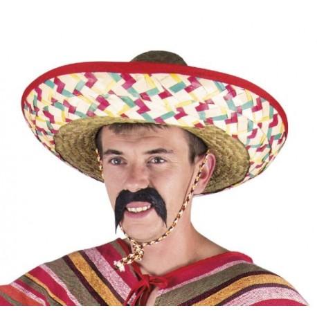 Chapeau sombrero en paille adulte - Déguisement mexicain adulte The Duck