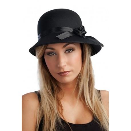 chapeau charleston ann e 20 satin femme chapeaux. Black Bedroom Furniture Sets. Home Design Ideas