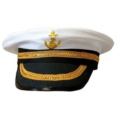 Chapeau Casquette de capitaine adulte - Déguisement capitaine marin adulte The Duck