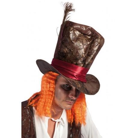 Chapeau de chapelier fou marron - Déguisement Dessin Animé Adulte The Duck