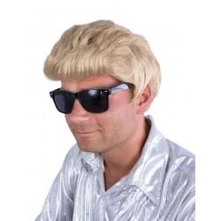 Perruque Blonde Chanteur Johnny homme - Déguisement rockeur Homme The Duck
