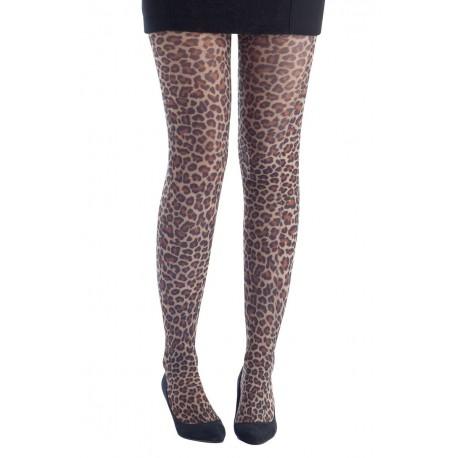 Collant Léopard jaune et noir Femme - Costume léopard femme - Déguisement léopard femme The Duck