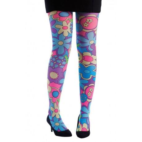Collant Hippie multicolore Femme - Costume hippie femme - Déguisement hippie femme The Duck