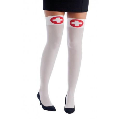 Bas blanc d''Infirmière sexy Femme - Costume infirmière - Déguisement infirmière The Duck