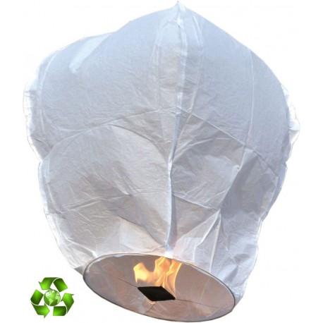 Lanterne Volante Ecologique blanc 1m - Lanterne Céleste - Décoration mariage The Duck