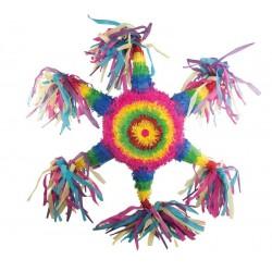 Pinata Etoile multicolore 61cm - Décoration anniversaire pinata The Duck